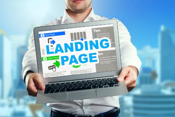 Crea un landing page